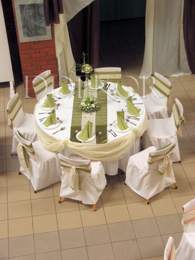Ddekor Runder Tisch Grun Creme Dekoration Hochzeit